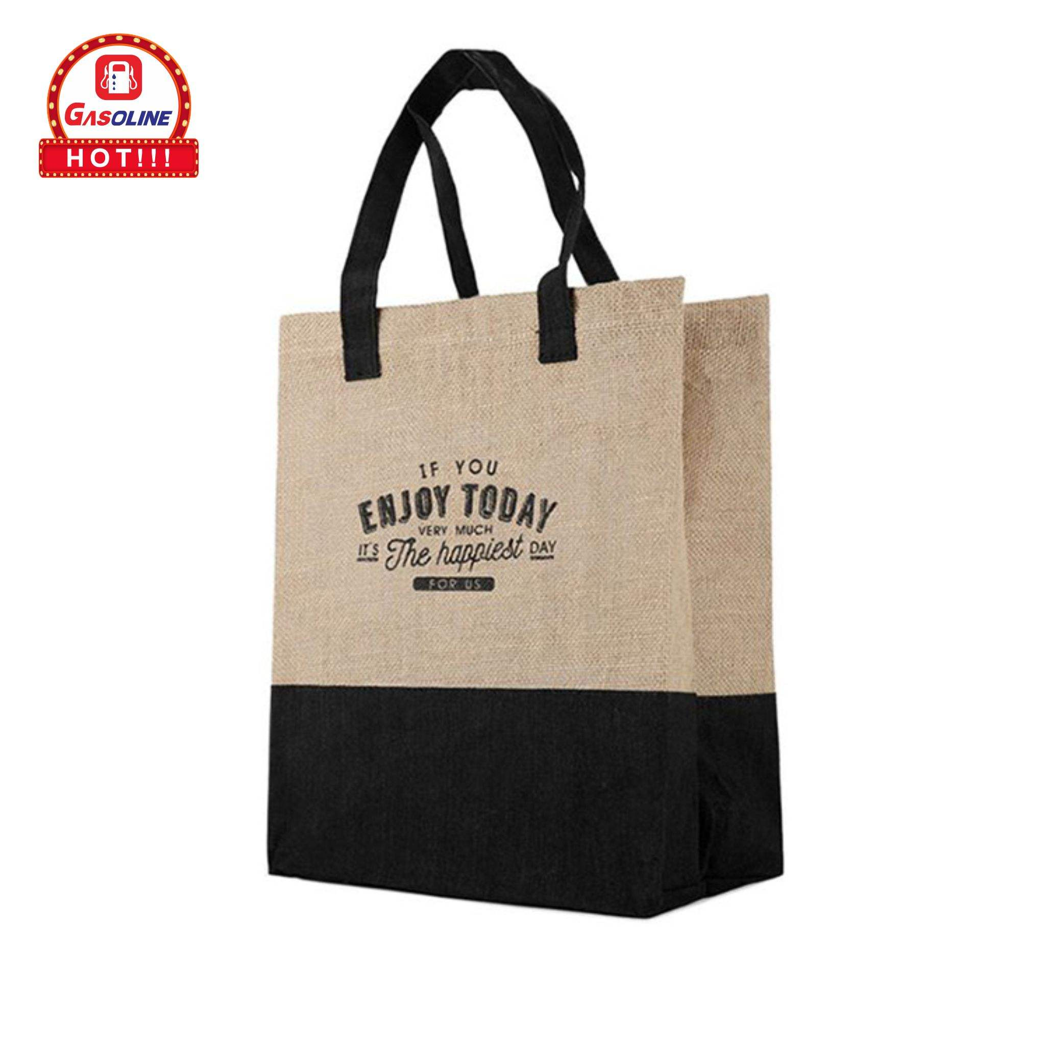 Cheap Recycle Natural Color Foldable Carry Jute Shopping Tote Bags Manufacturer