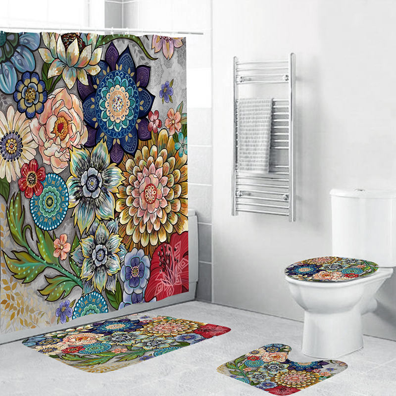 Customized Bohemian decoration Shower Curtain sets for Bathroom Home Decor