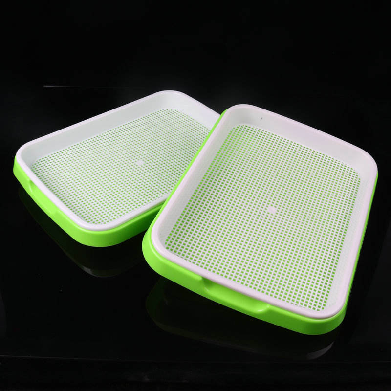 Water cultivation seedling tray plastic growth tray three-dimensional rectangular soilless planting sprout dish tray