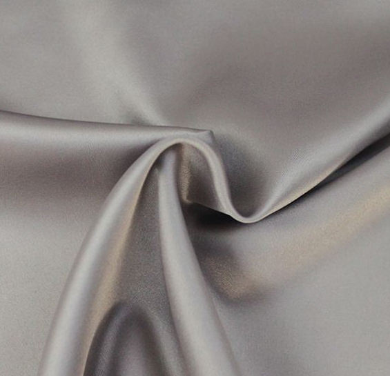 Upholstery Polyester Satin Fabric Fashionable Latest Design 50D Shine Yarn Weft 95% Polyester 5% Spandex Blend Stretch Satin Fabric