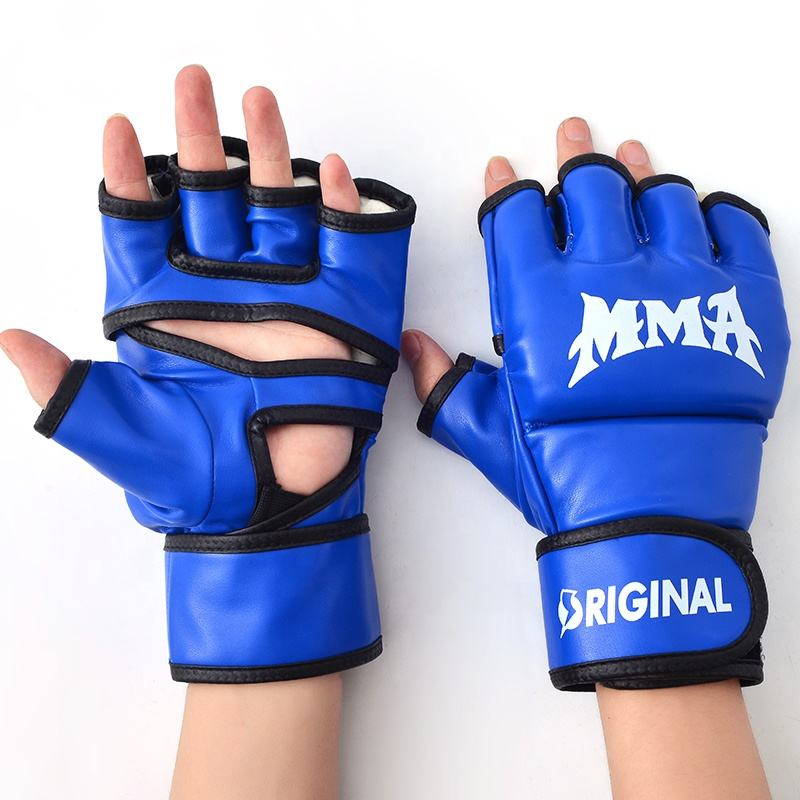 custom high quality leather mma sparring boxing ufc gloves