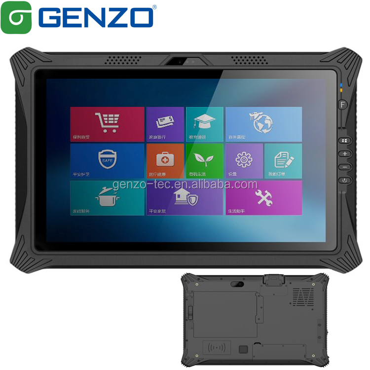 GENZO 10 pollici tablet rugged i5-8250U i7-8550U CPU 8GB di RAM industriale robusto di windows 10 pc pro tablet con codice a barre scanner