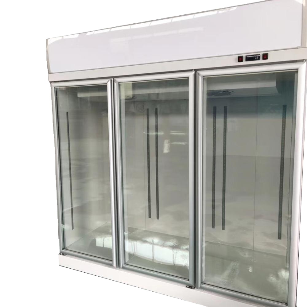 Sanye Three Section Display Freezer w/ Swing Doors - top Mount Compressor, White, 115/208-230v/1ph