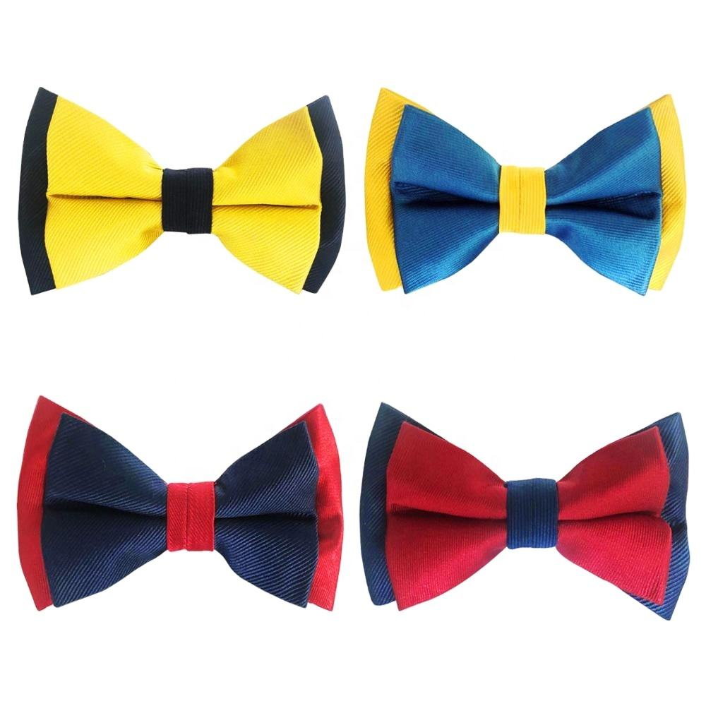 Wholesale multi - color silk fashion men's bow tie