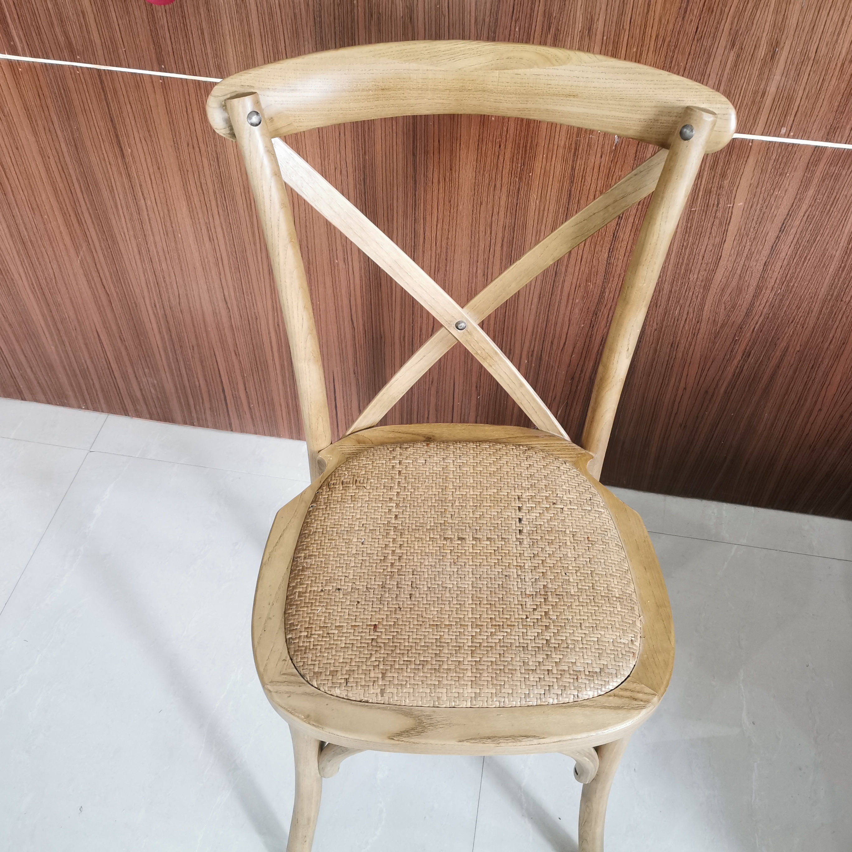 modern stackable hot sale hotel restaurant event party cross back wood luxury chair wedding