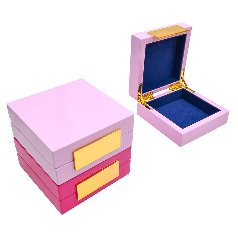 Hot sale wooden rigid jewelry cheap boxes elegant storage