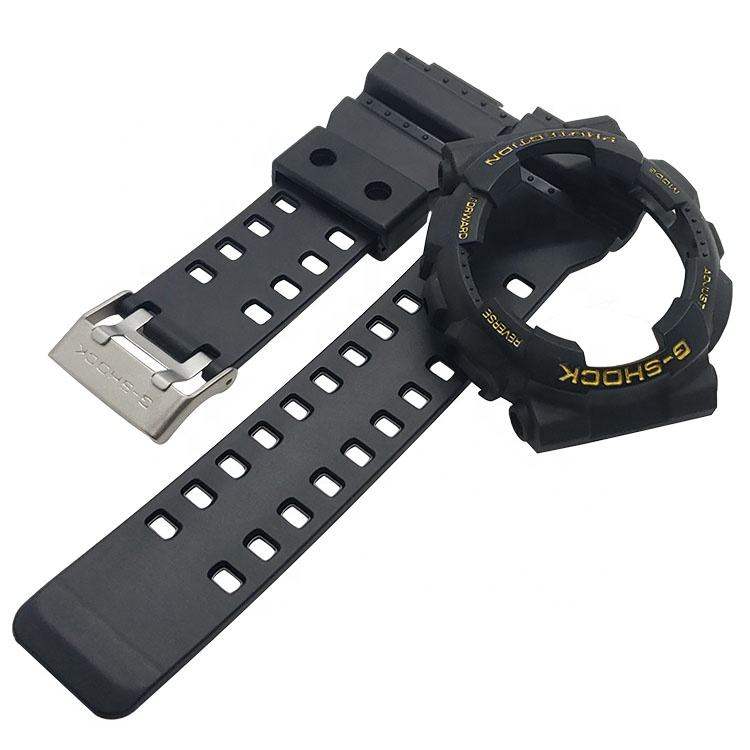 G100/110 G120 black rubber watch band with case 24mm silicone watch band for casio watch