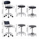Modern high swivel height adjustable leather metal hair salon bar counter stool
