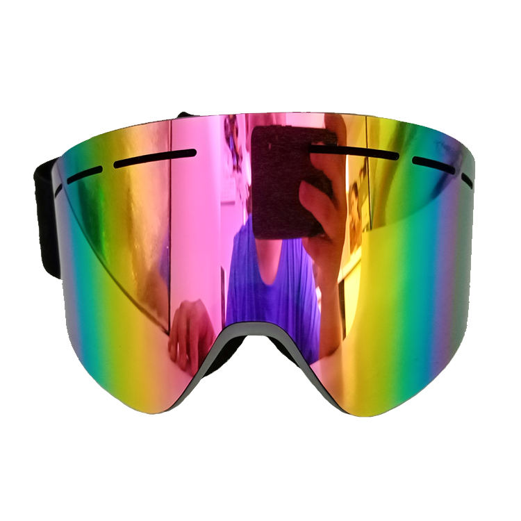 Custom wholesale high quality colorful Gradient ski goggles