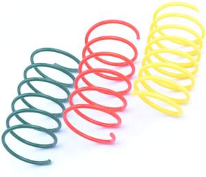 Pet Wide Plastic Colorful Springs Cat Toys for Cat Kitten Pets