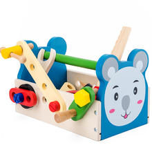 Hotsale Wooden Children's Tool Set Toys Repair Pretend Play Wooden Tool Box Tool Kit