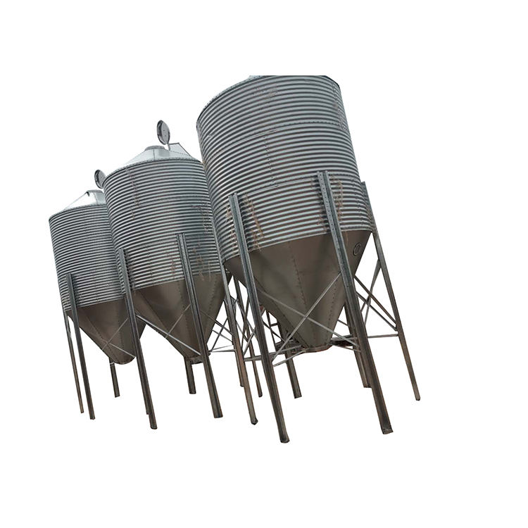 New Design Hot Dip Galvanized Pig Chicken Feed Storage Silo For Sale