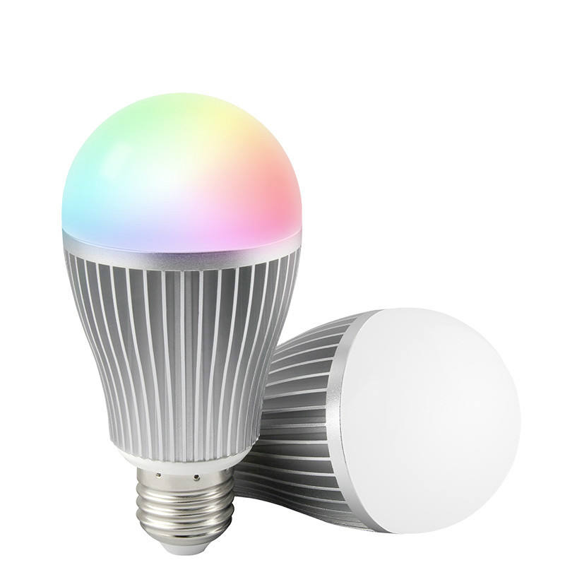Fut016 Wifi Full Color <span class=keywords><strong>Dimbare</strong></span> AC86-265V 2.4G E27 9W Rgbw Led Lamp Licht Lamp