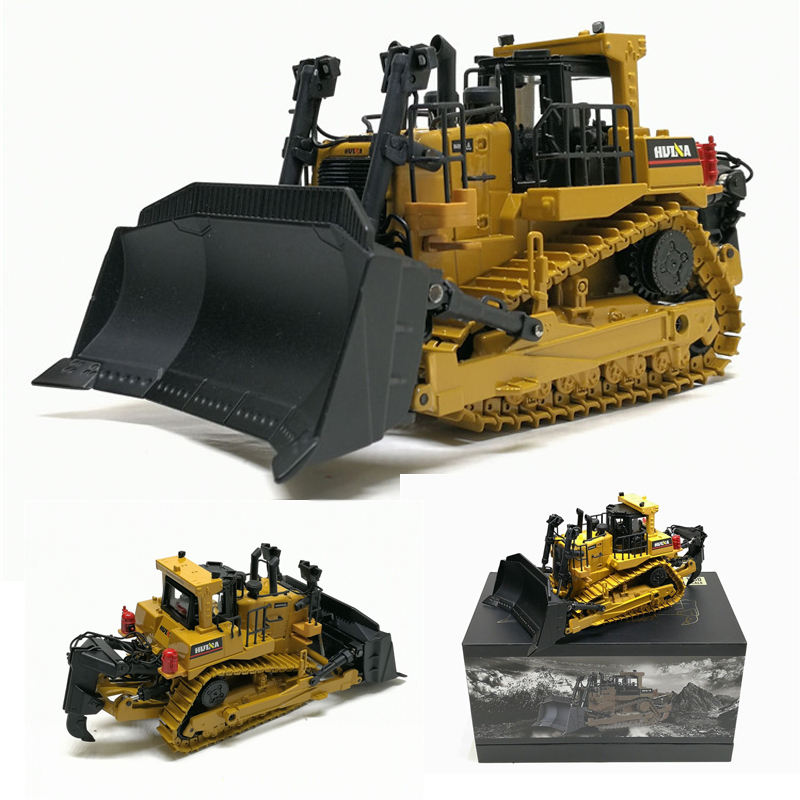 Huina 1700 High Simulation 1:50 Crawler Bulldozer Model Alloy Diecast Engineering Track Car Boys Metal Toys