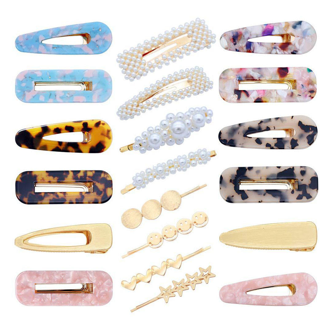 Bling crystal rhinestone pearl acetate acrylic metal Korean designer girls hair pins accessories hairgrips hair clips