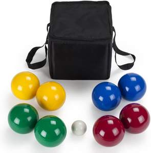 Classic Game Lawn Beach Game Wooden boules Set Bocce Balls 4 Players