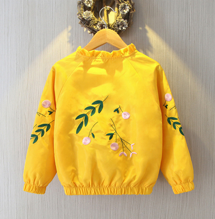 Custom Couple Spring And Autumn Coats Cute Two Sides Embroidery Pocket Zipper Baseball Jacket