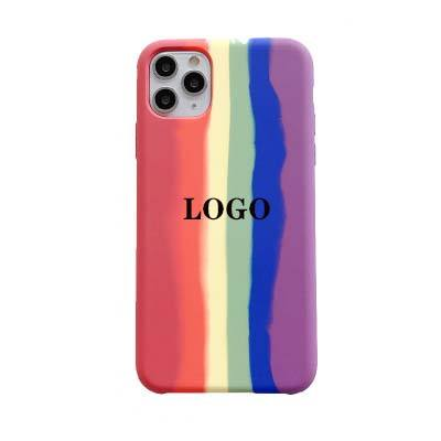 Love is Love For iphone 11 case rainbow color for case iphone silicone liquid oem LOGO for iphone xr case 2020 new