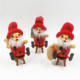 Wooden Christmas Decoration Smokingman Santa