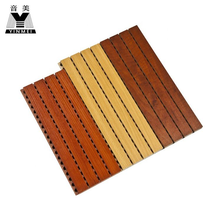 Eco-friendly Acoustic Panels Wooden Perforated Mdf Acoustic Panel School Hotel Wall Panel Soundproof