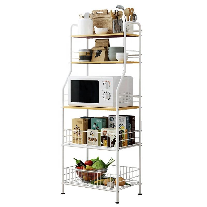 Kitchen Shelf Organizer Microwave Oven Stand Rack Vegetable Fruit Storage Holder