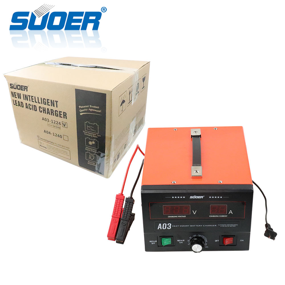 Suoer 30A 12 volt 24 volt New Intelligent Lead Acid Charger Battery Charger for Car