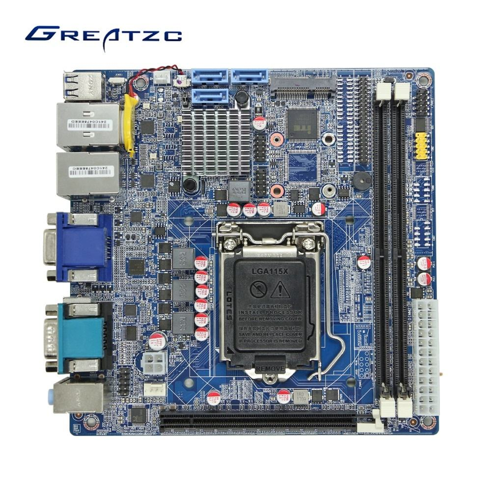 Industriale Mini ITX Scheda Madre LGA1151 Fabbrica in Cina, Con Processore Intel H110 <span class=keywords><strong>Chipset</strong></span>,6th Generazione <span class=keywords><strong>core</strong></span> i3/i5/<span class=keywords><strong>i7</strong></span> CPU,6 COM,Dual LAN