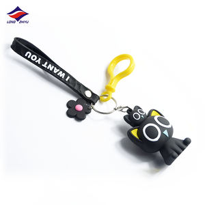 Longzhiyu 14 years manufacturer custom resin neoprene keychain acrylic key chain