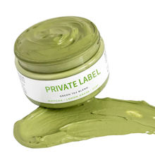 private label  skin care  product  moisturizing  whitening matcha mud mask for Cleans Pores green tea clay mask