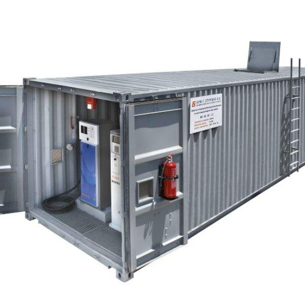 Easy Fast Portable Gas Station Container Double Diesels Customizable Mobile Fuel Station