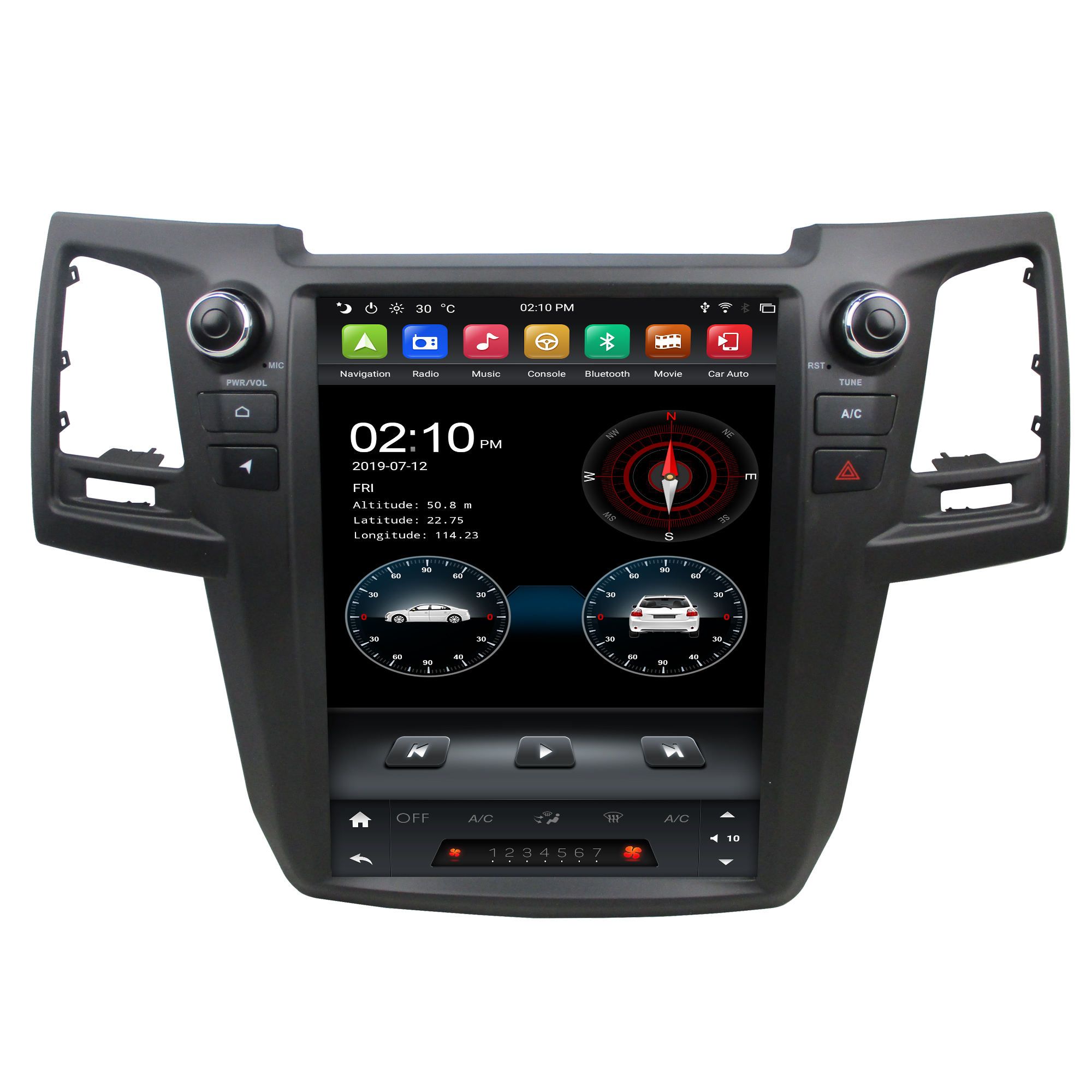 Klyde kd 12104 tesla android 4G wifi internet 32G Car radio for Fortuner 2015 car dvd player GPS navigation car audio bluetooth