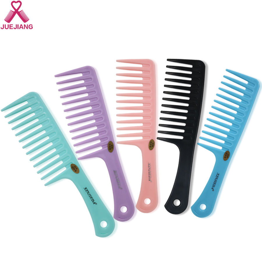 Wholesale Custom LOGO Detangling Shower Hair Comb Heat-Resistant Large Plastic Hair Wide Tooth Hair Comb