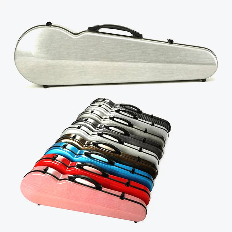 Highly cost effective violin hard case wholesale violin case 4/4 3/4 carbon fiber violin case VQ-07
