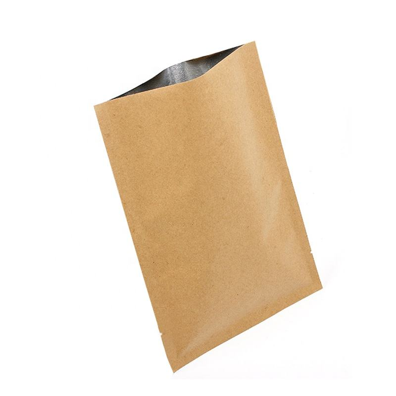 20 × 30センチメートルKraft Paper Aluminum Foil Inside 3 Side Sealing Vacuum Packaging BagとTear Notch