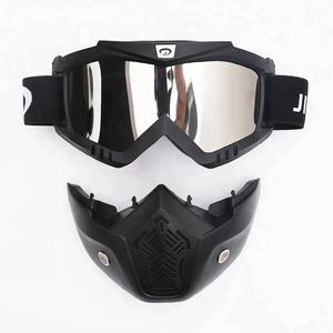 New Racing Motorcycle Motocross Roll Off Glasses Sunglasses Goggles Face Mask Skull Windproof
