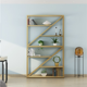 2020 newest modern book shelves for home hotel office craft show display shelf
