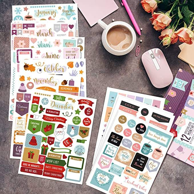 Enjoy My Way weekly monthly planner sheet book planner sticker custom,custom planner stickers