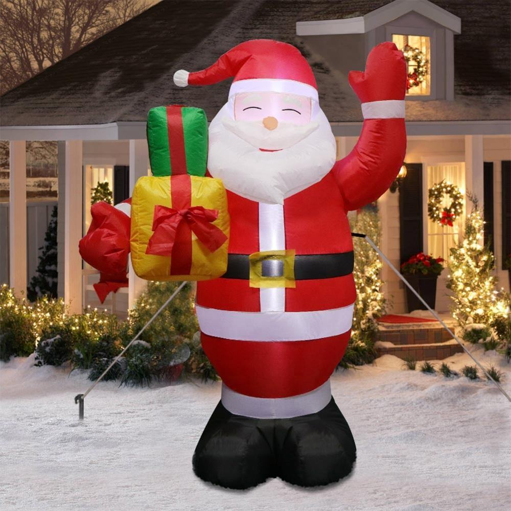 Ourwarm 5ft Outdoor Christmas Decoration LED Lights Inflatable Santa Claus