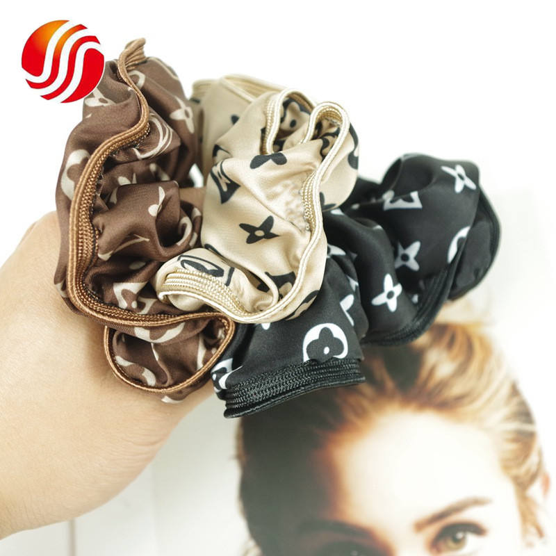 3 Colors Outdoor Sport Elastic Hair Rubber Bands Fashion Printed Girls Hair Bands