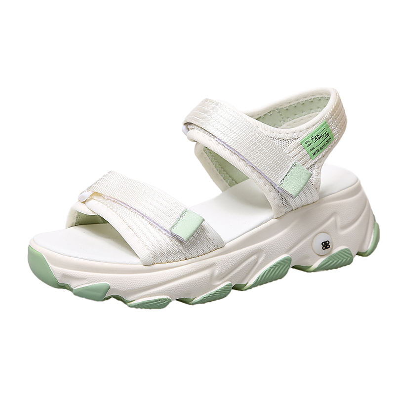 Hot selling comfortable Summer newest women shoes sandals fashion thick-soled platform women sports sandals