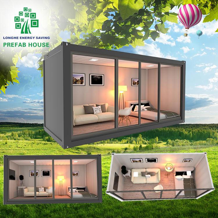 prefabricadas casa contenedor prefabricado casas de envío cabaña Oficina plana paquete contiene casa Prefabr paquete