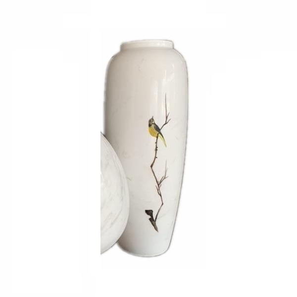 Luxury Natural White Marble Stone Tabletop Small Flower Vase