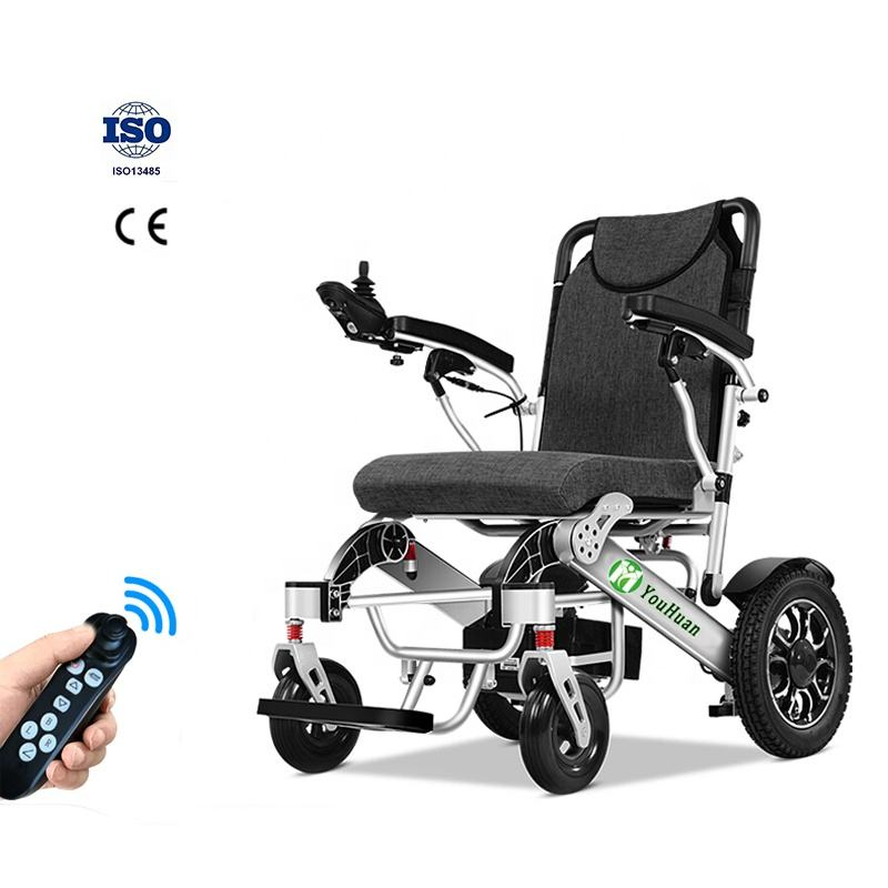 2021YOUHUAN CE ISO OEM/ODM 150KG bearing lightweight remote or back control electric wheelchair