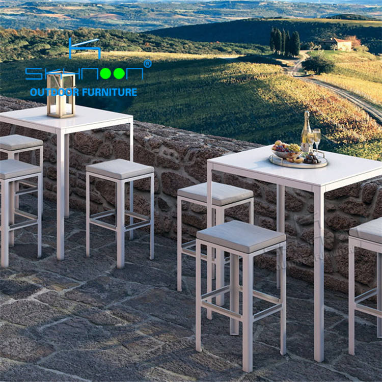 Commercial bar outdoor furniture high quality metal bar tables and 4 chairs wholesale high standard outdoor bar furniture(31044)