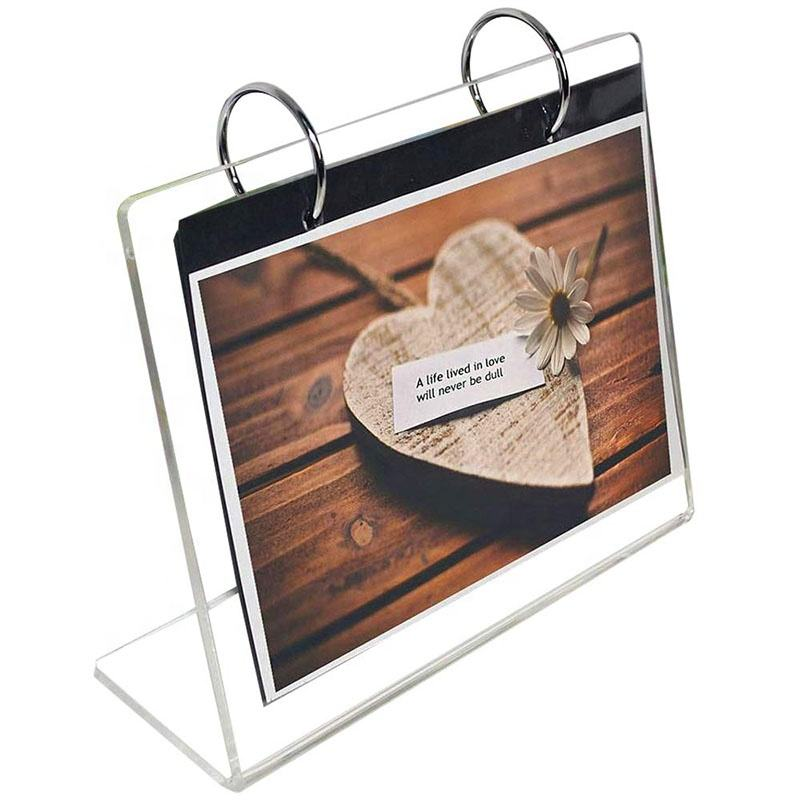 Customized Wholesale Acrylic Calendar Holder Desktop Clear Acrylic Calendar Stand