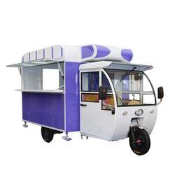 Multifunctional fast food truck electric tricycle mobile hamburger pizza gourmet car