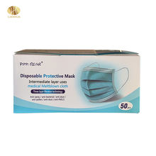 Wholesale cheap MOQ 1000pcs anti pm2.5 disposable face mask 3-ply with earloop