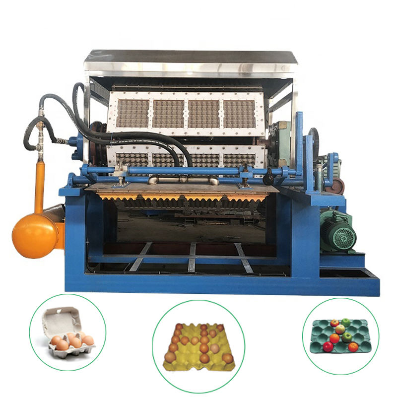 Hot Sale Waste Paper Recycling Automatic Paper Pulp Molding Egg Tray Making Machine