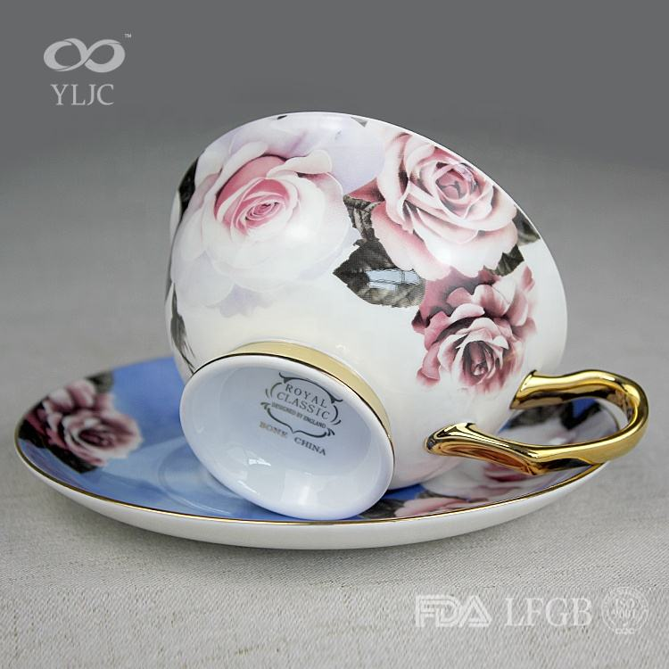 fancy 16 pcs wholesale new design decal making luxury dinnerware sets blue white chinese porcelain