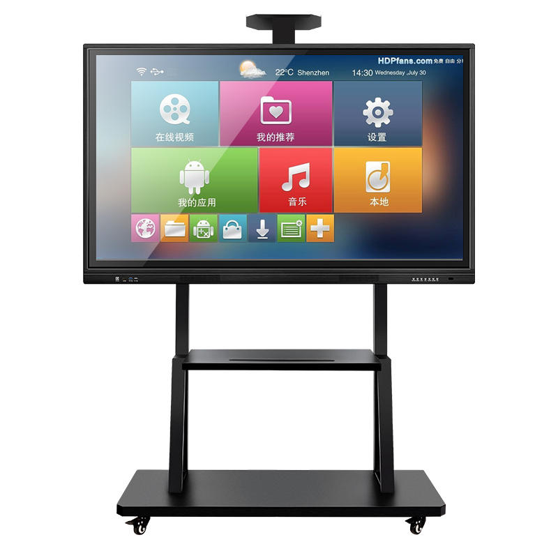 Portable Digital Interactive Multimedia Lcd Glass Smart Whiteboard for School